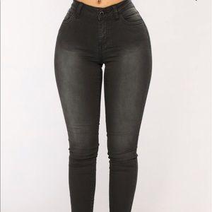 Denim - Black fade jeans